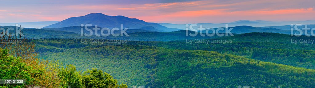 Rolling Mountains of Vermont royalty-free stock photo