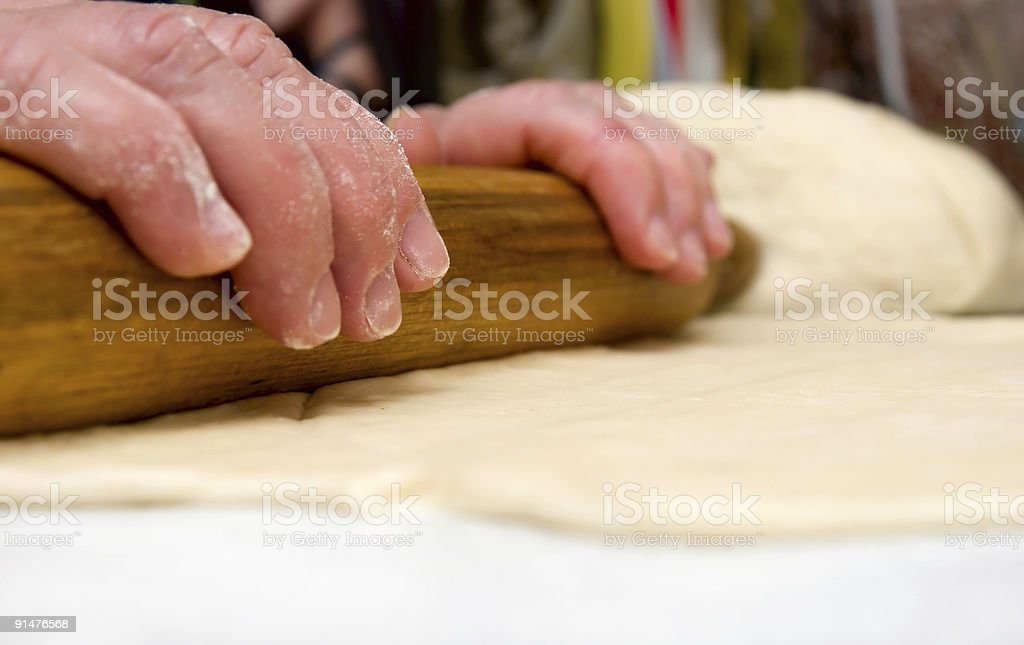 rolling out the paste royalty-free stock photo