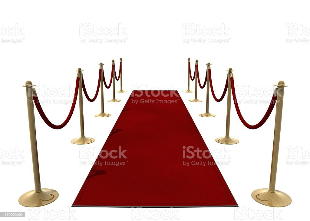 Rolling out the red carpet royalty-free stock photo