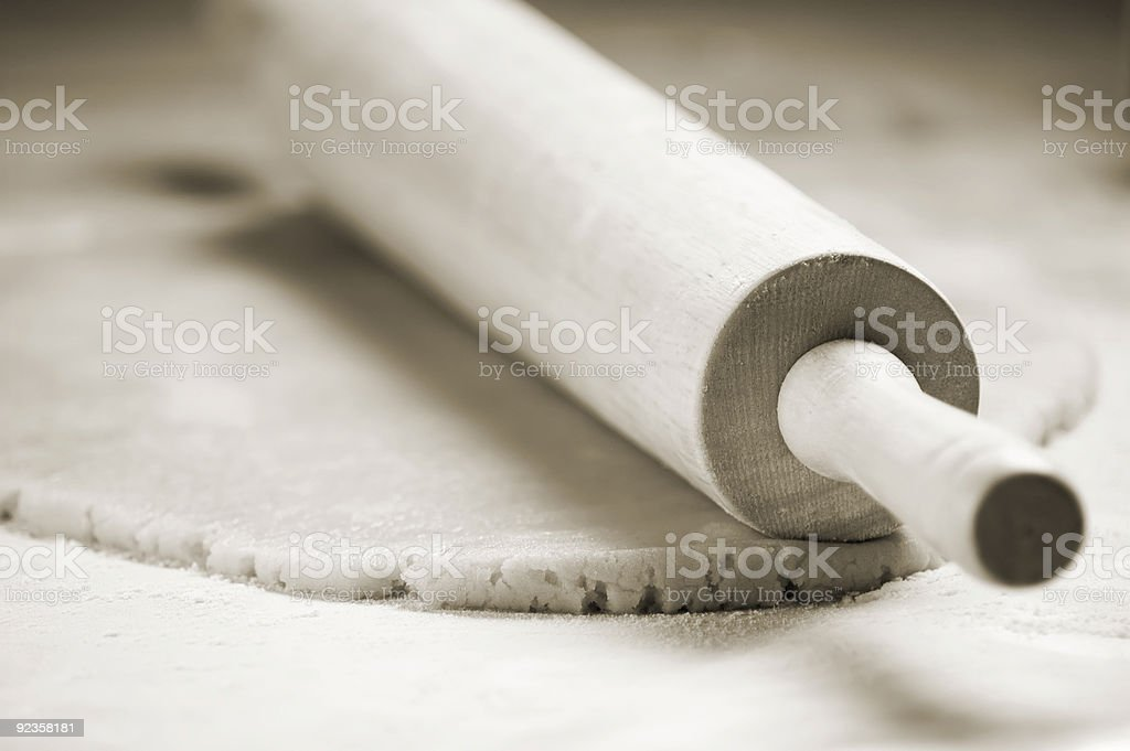 Rolling Pin and Cookie Dough stock photo