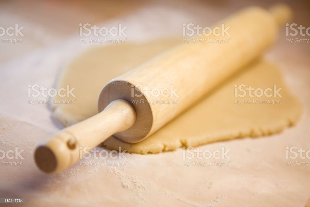 Rolling Pin and Dough royalty-free stock photo