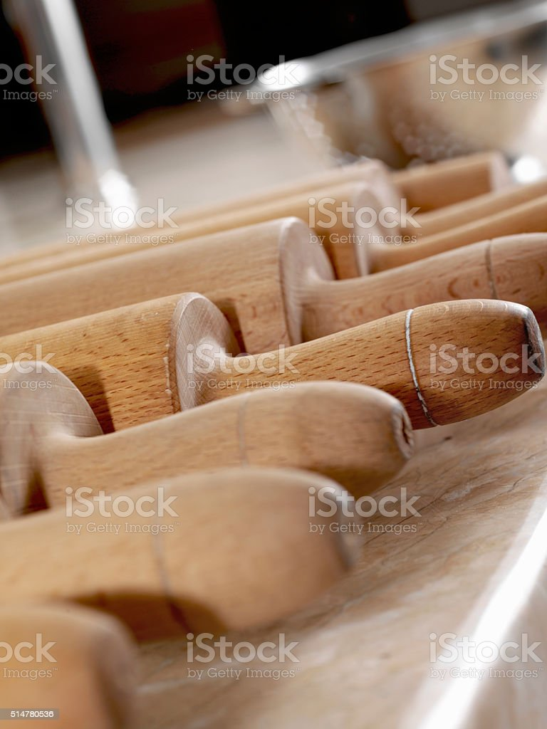 rolling pins stock photo