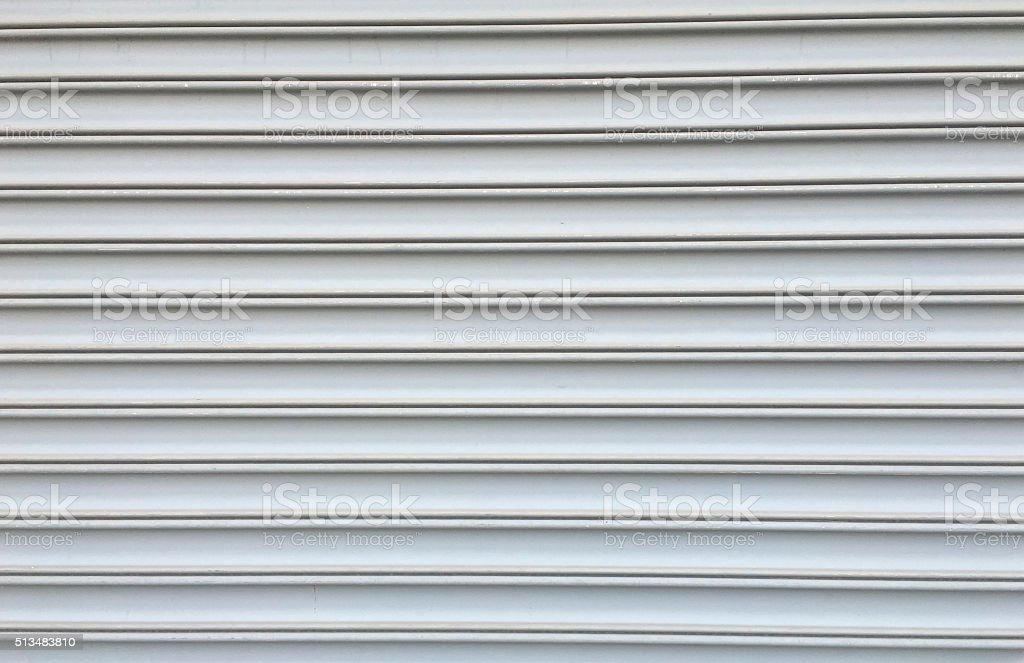 Rolling steel door stock photo