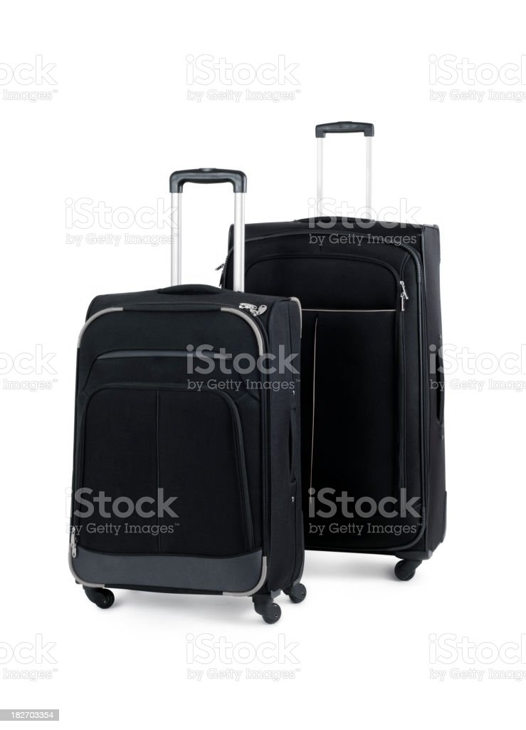 Rolling Suitcases w/Clipping Path royalty-free stock photo