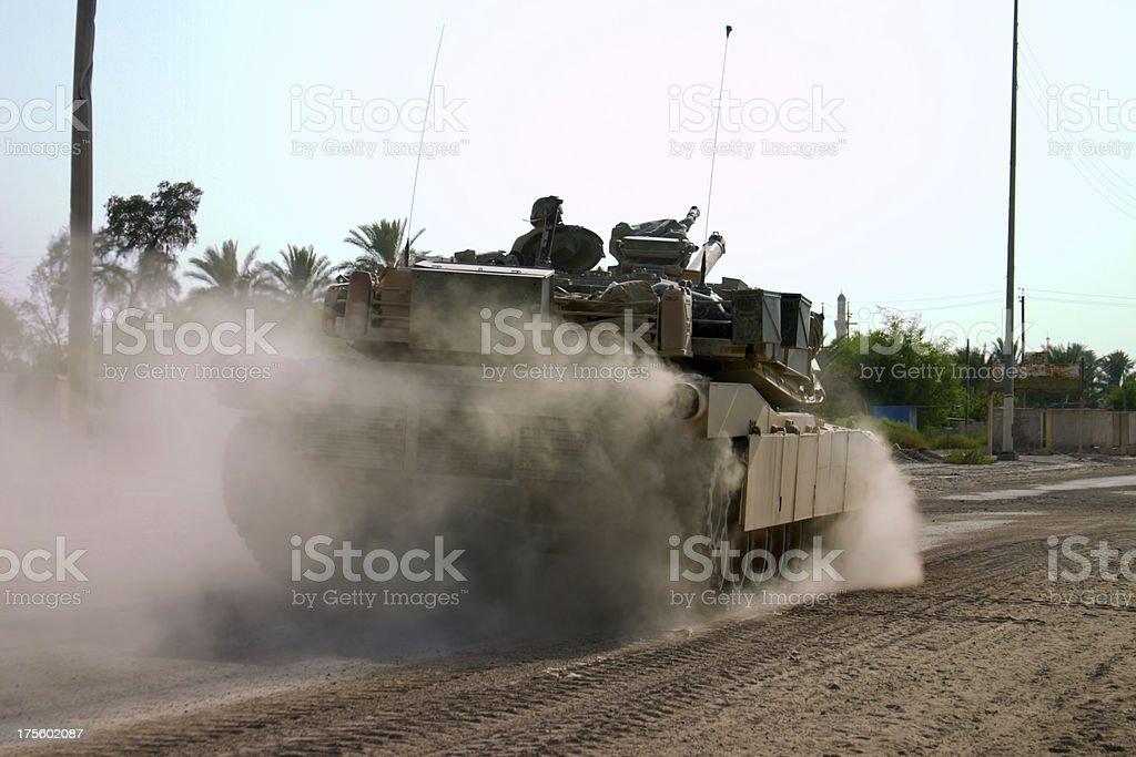 Rolling Tank stock photo