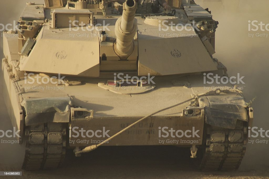 Rolling Tank stock photo