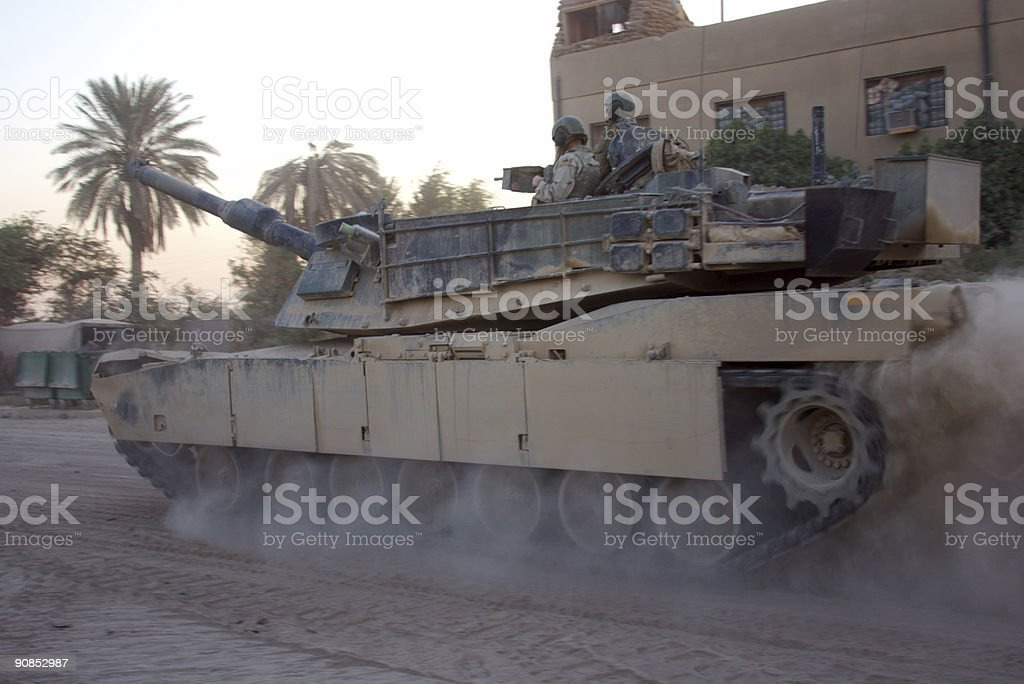 Rolling Tank royalty-free stock photo