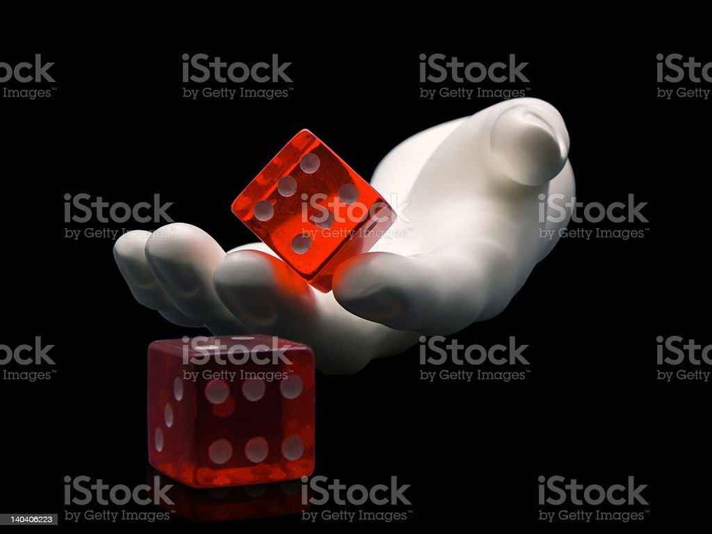 Rolling the Dice royalty-free stock photo