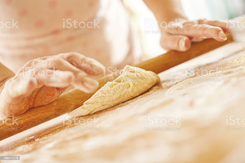 Rolling The Dough royalty-free stock photo