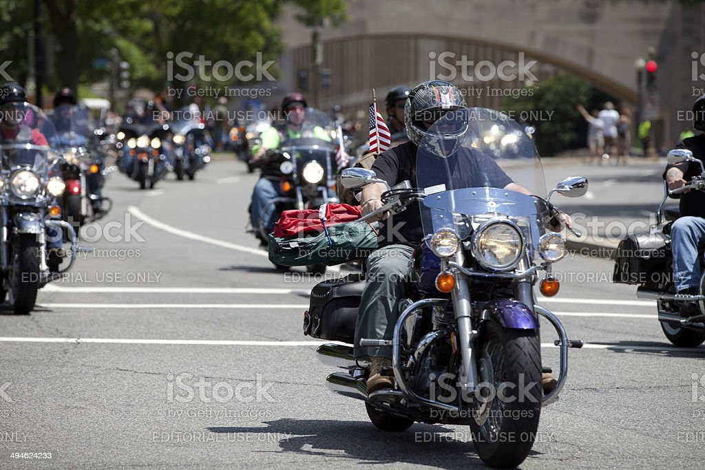 Rolling Thunder DC stock photo