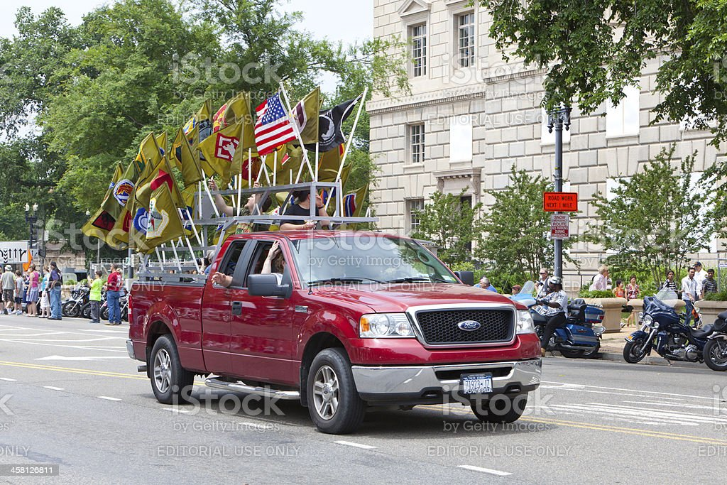 Rolling Thunder in Washington DC stock photo