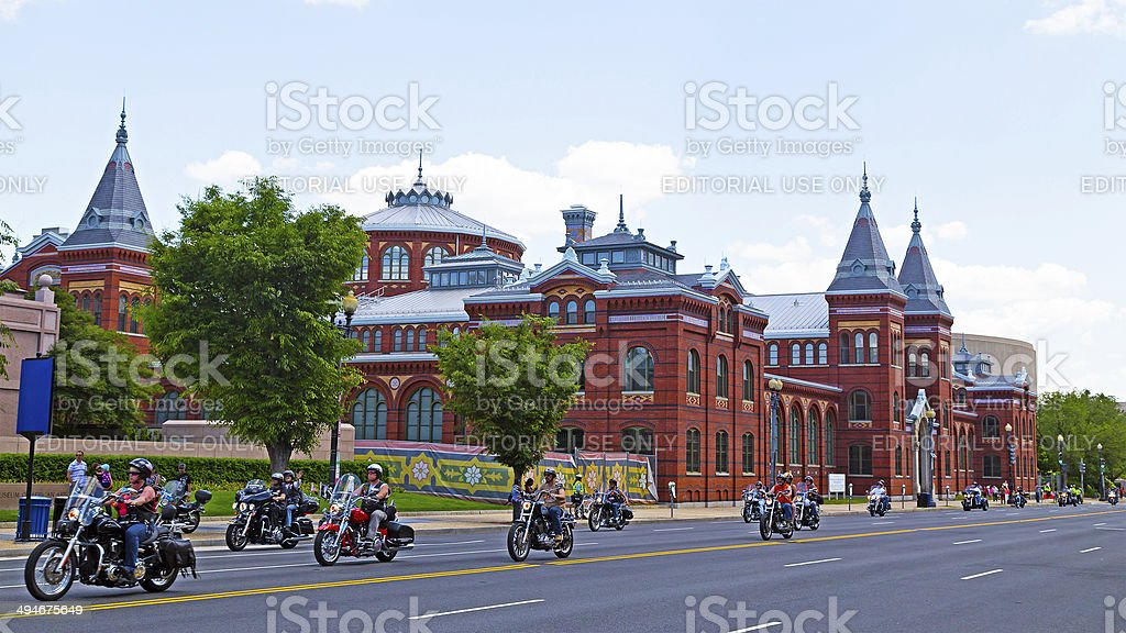 Rolling Thunder parade along Independence Avenue stock photo