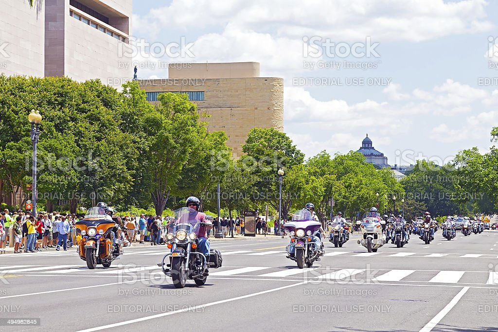 Rolling Thunder rally on Memorial Day weekend stock photo