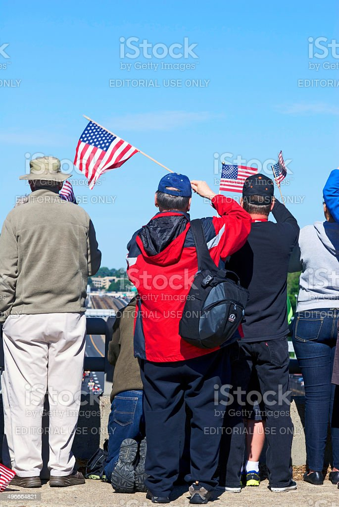 Rolling Thunder Spectators2 stock photo
