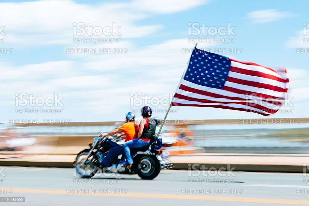 Rolling Thunder Washington DC stock photo