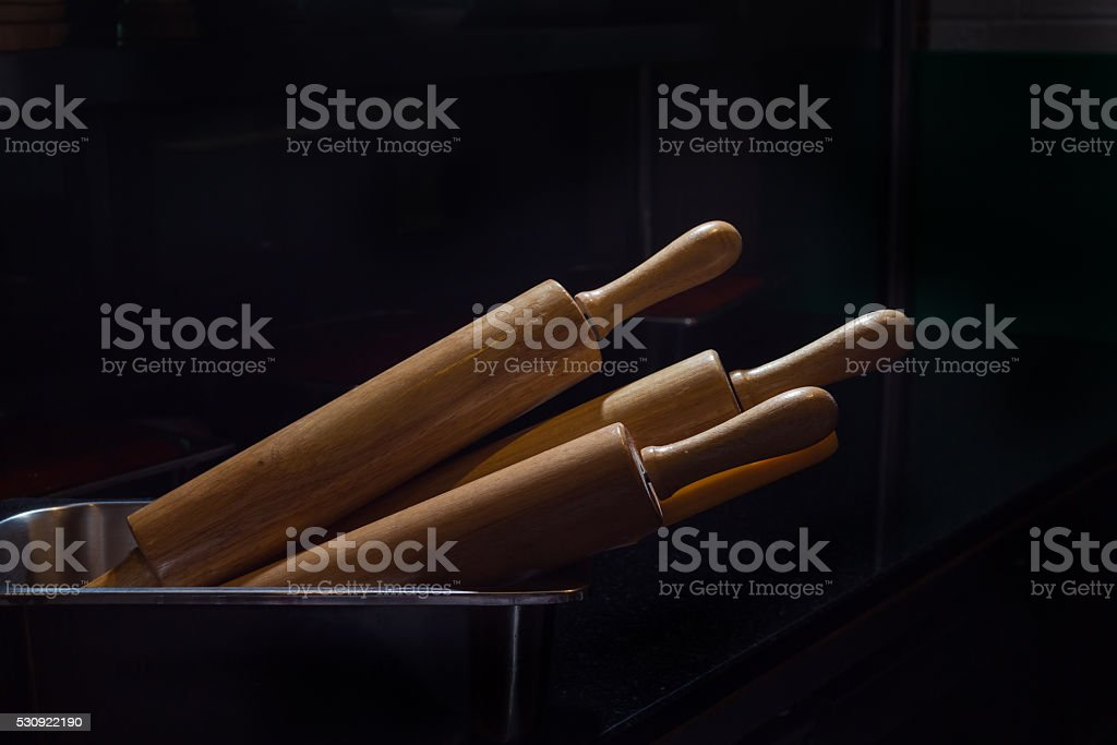 Rolling wood equipment stock photo