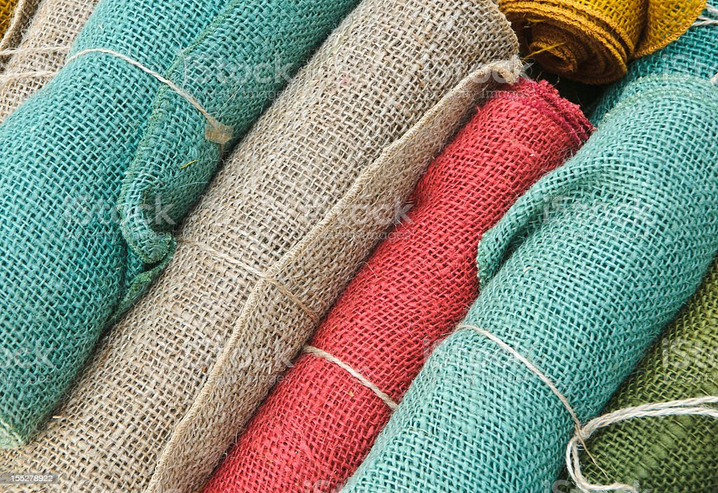 Rolls of Burlap royalty-free stock photo