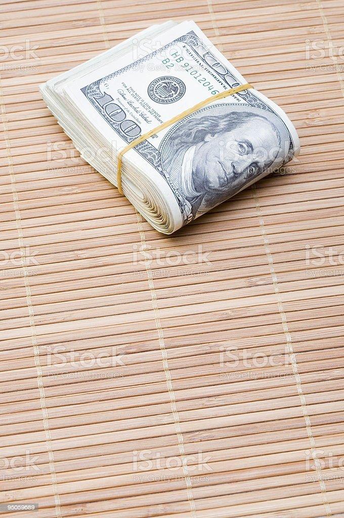 rolls of dollar stock photo