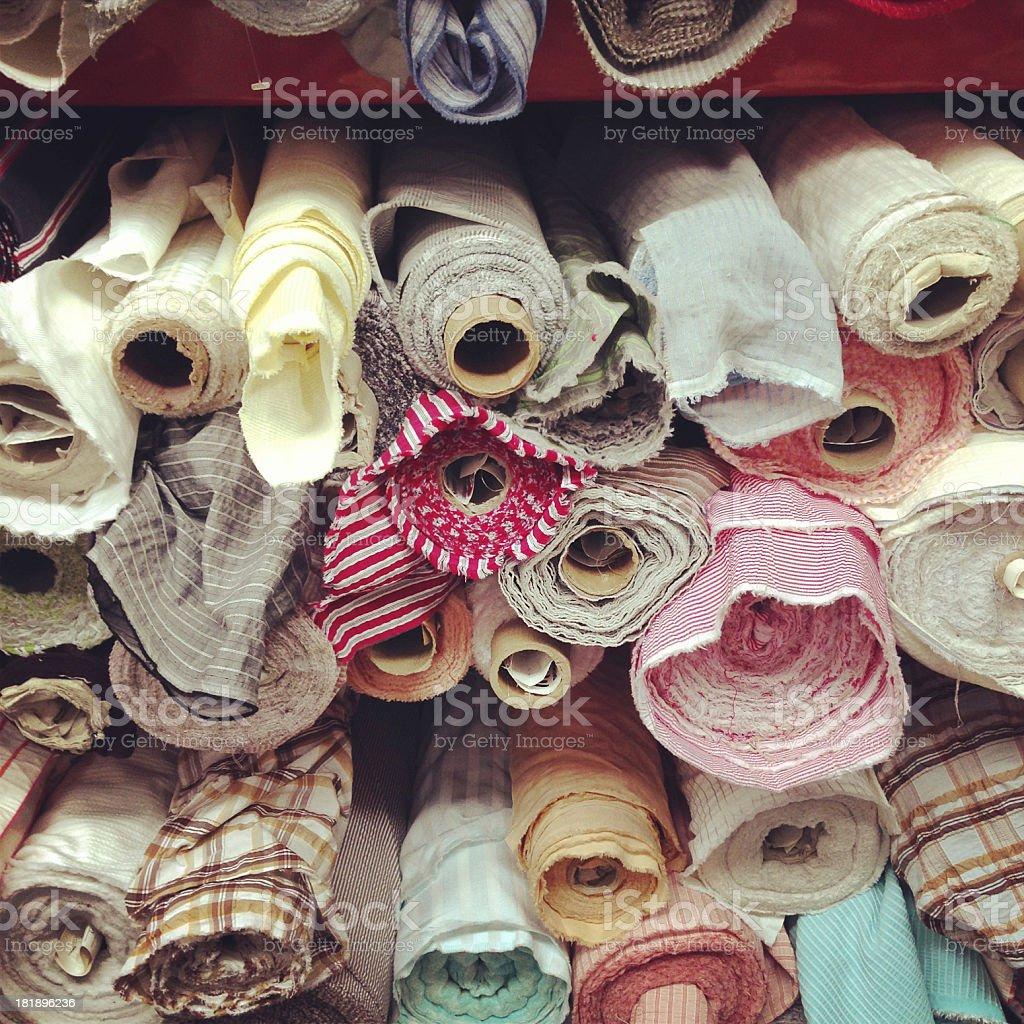 Rolls of fabric royalty-free stock photo