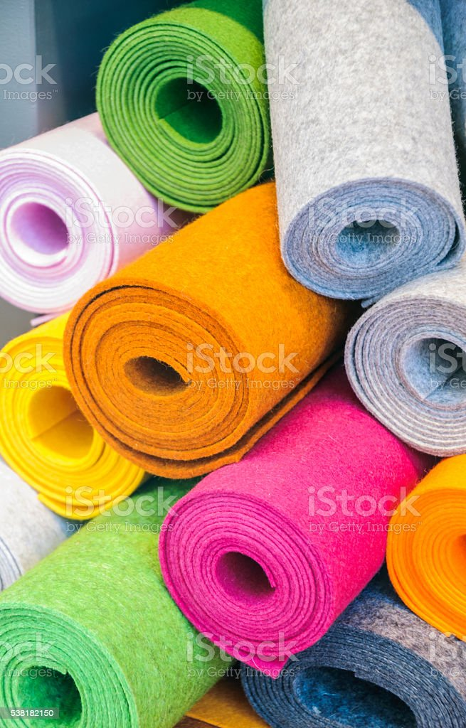 Rolls of Felt stock photo