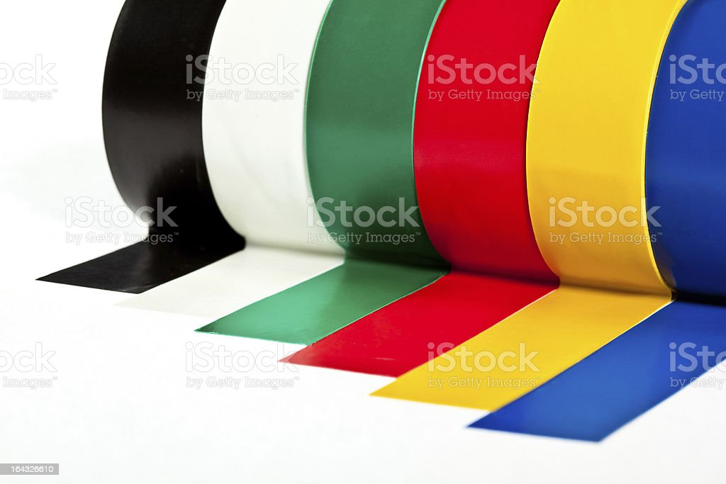 Rolls of insulation adhesive tape royalty-free stock photo