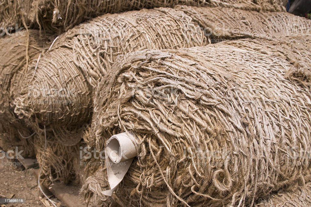 Rolls of Jute royalty-free stock photo