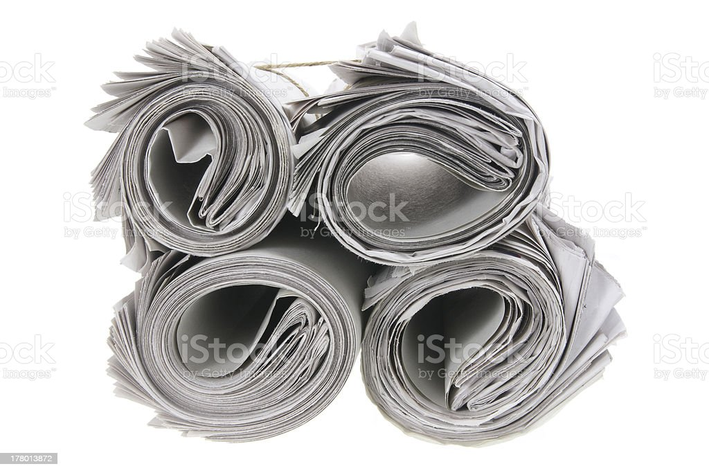 Rolls of Newspapers royalty-free stock photo