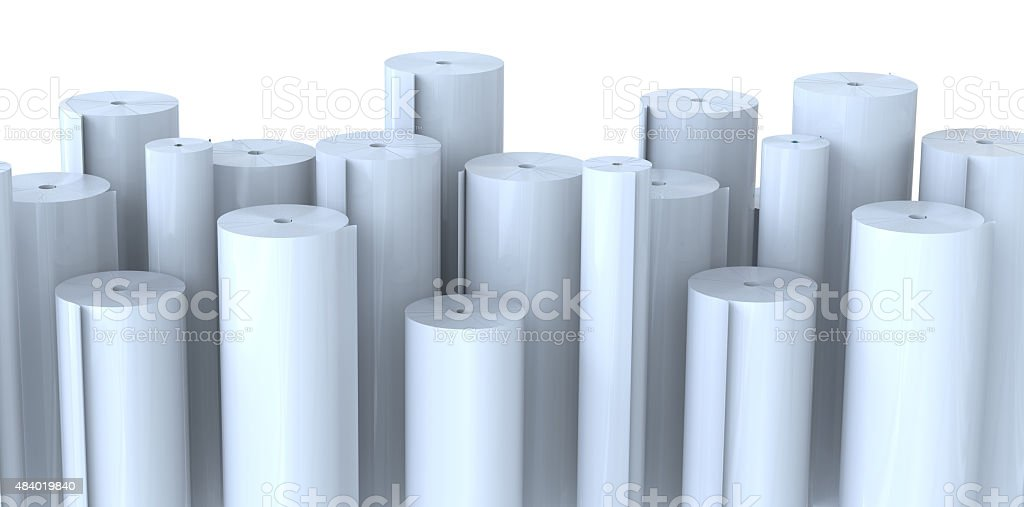 Rolls of paper stock photo