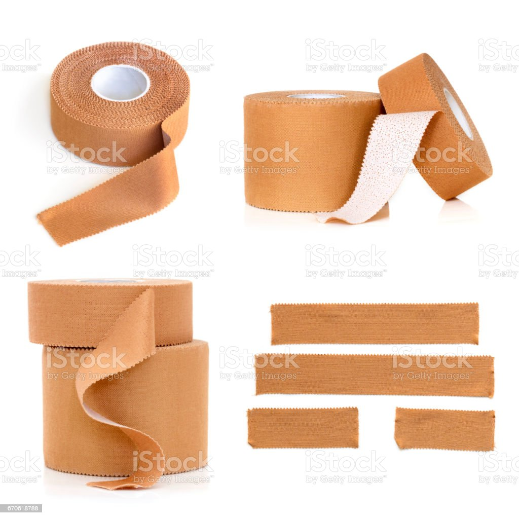 Rolls of Physio Strapping Tape Isolated stock photo