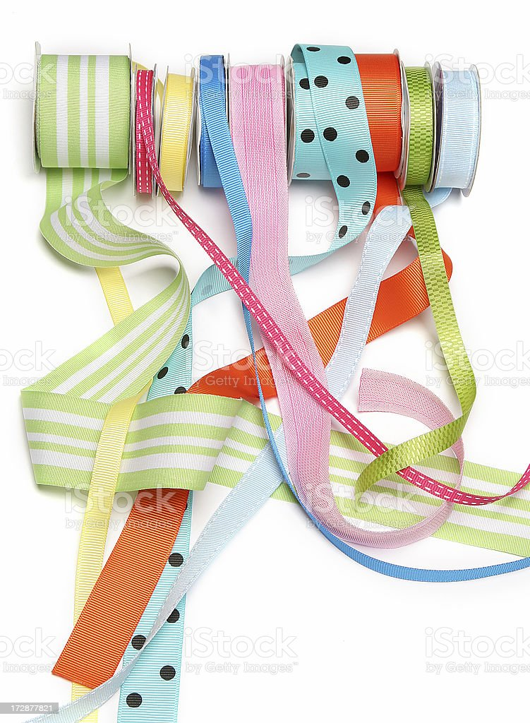 Rolls of Ribbon royalty-free stock photo