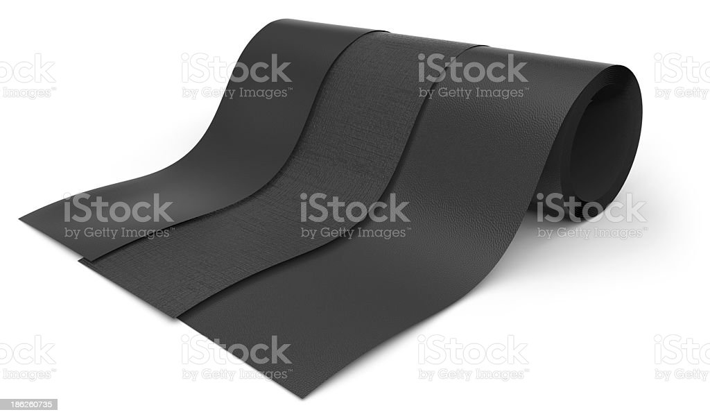 Rolls of rubber stock photo