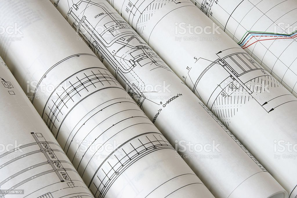 rolls of the drawings royalty-free stock photo