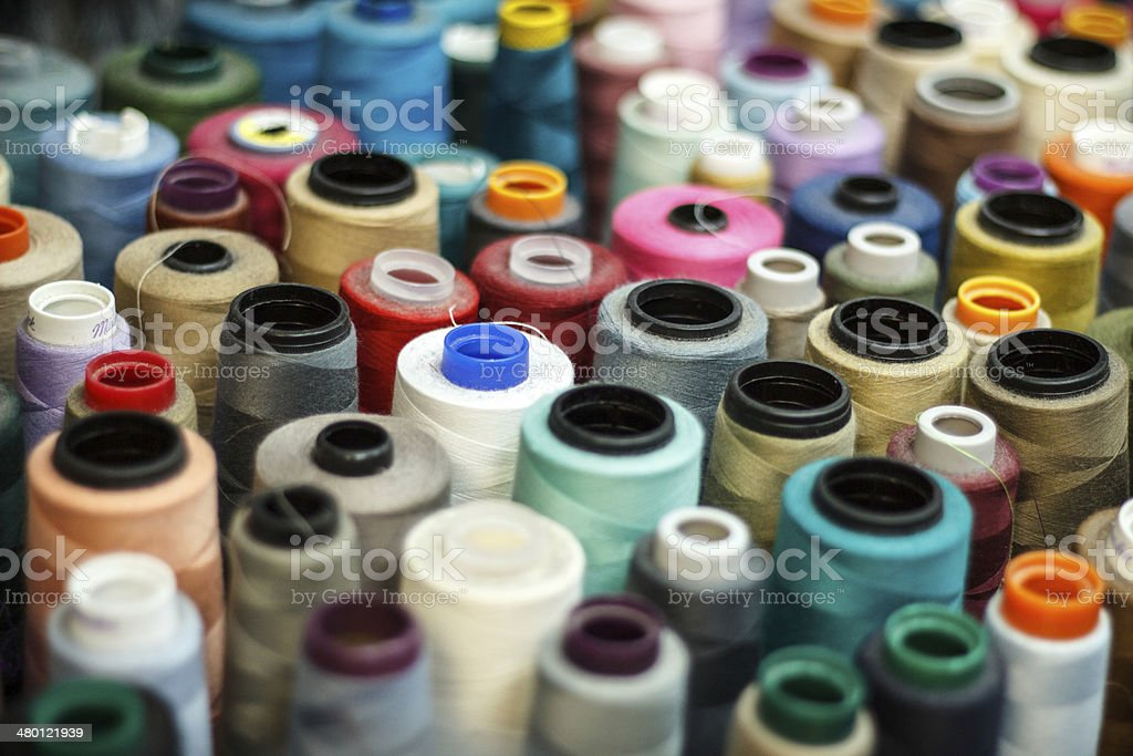 Rolls of Threads stock photo