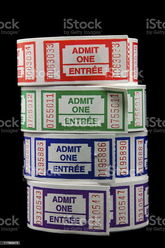 Rolls of Tickets royalty-free stock photo