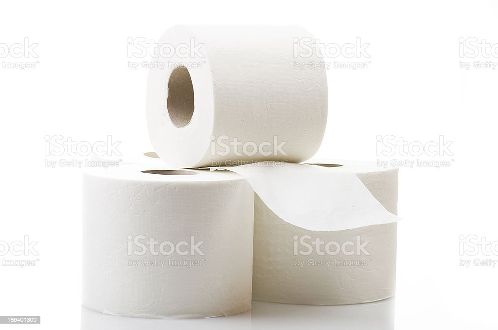 Rolls of toilet paper royalty-free stock photo