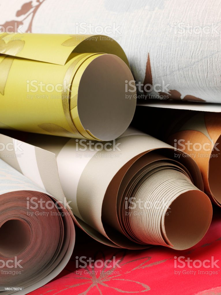 Rolls of wallpaper royalty-free stock photo