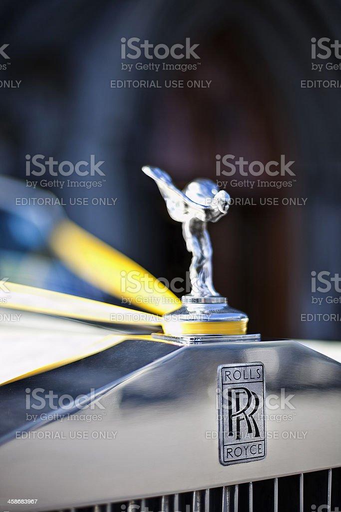 Rolls Royce hood ornament stock photo