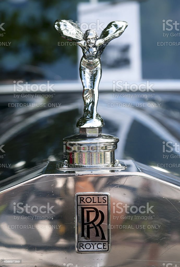 Rolls Royce Hood Ornament - Spirit of Ecstasy royalty-free stock photo
