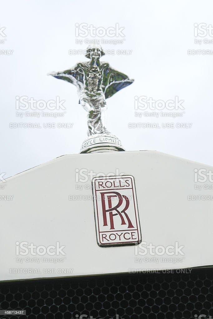 Rolls Royce Logo Hood Emblem stock photo