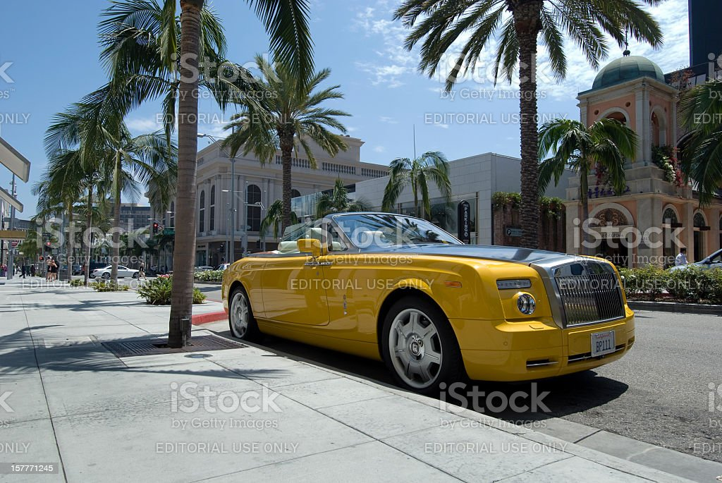 Rolls Royce on Rodeo Drive stock photo
