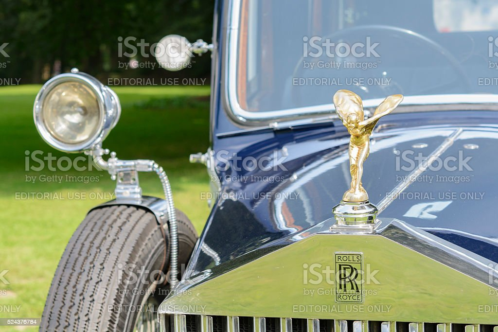 Rolls Royce Phantom front detail stock photo