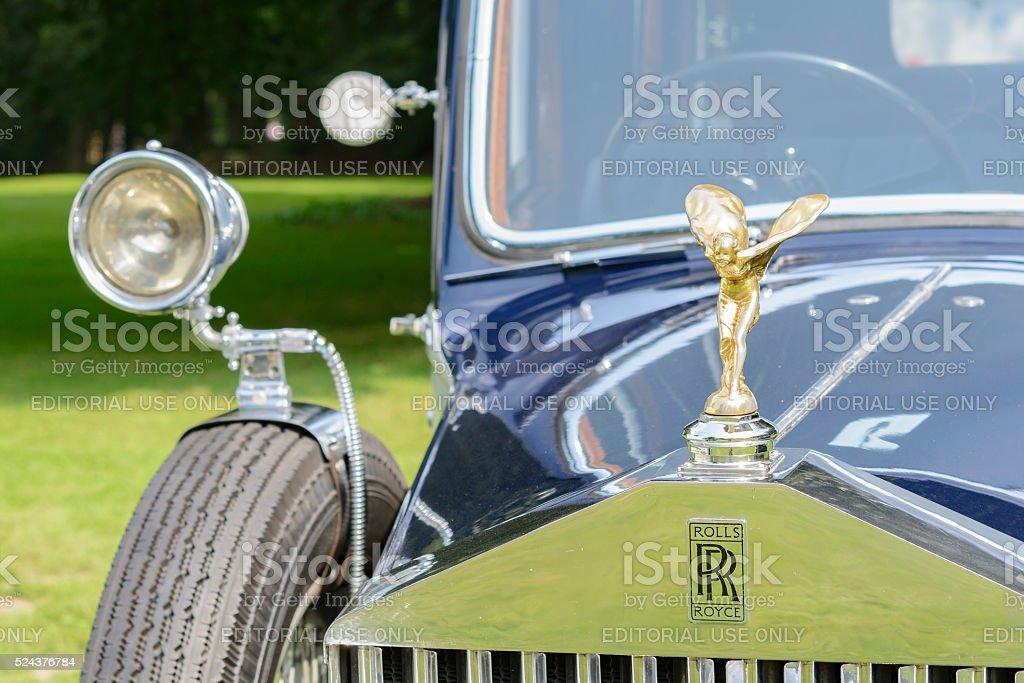 Rolls Royce Phantom front detail stock photo