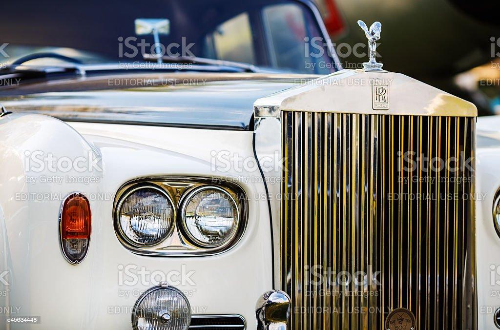 Rolls Royce - retro car stock photo