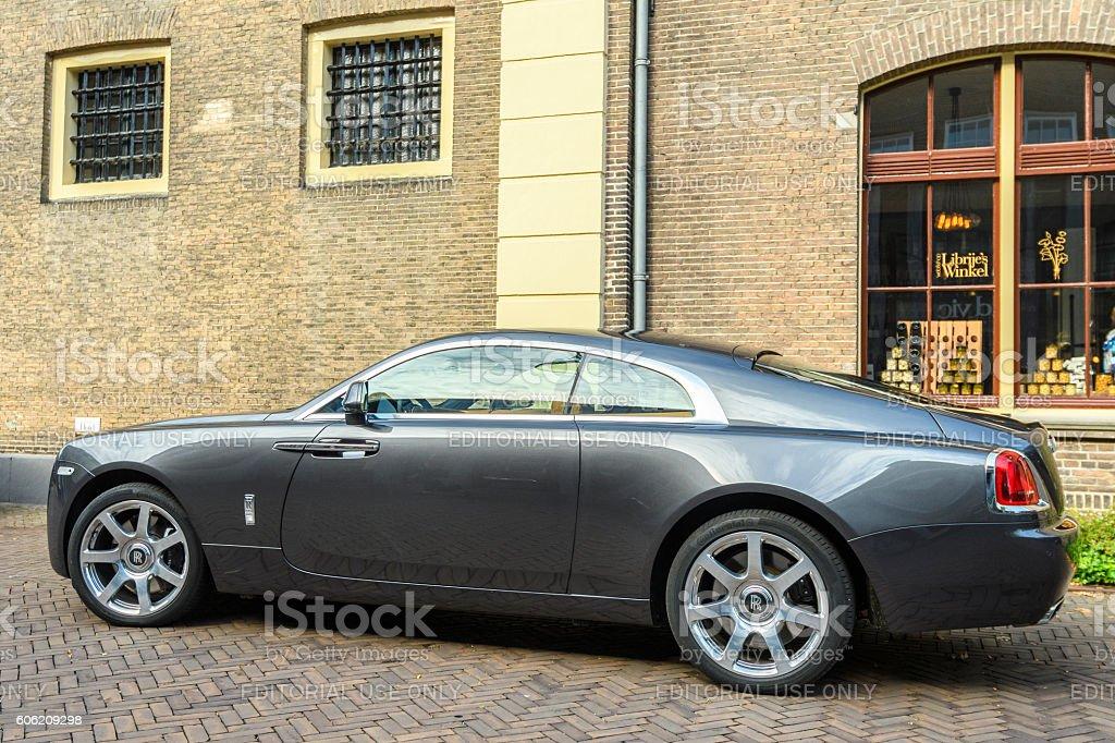 Rolls Royce Wraith luxury coupe stock photo