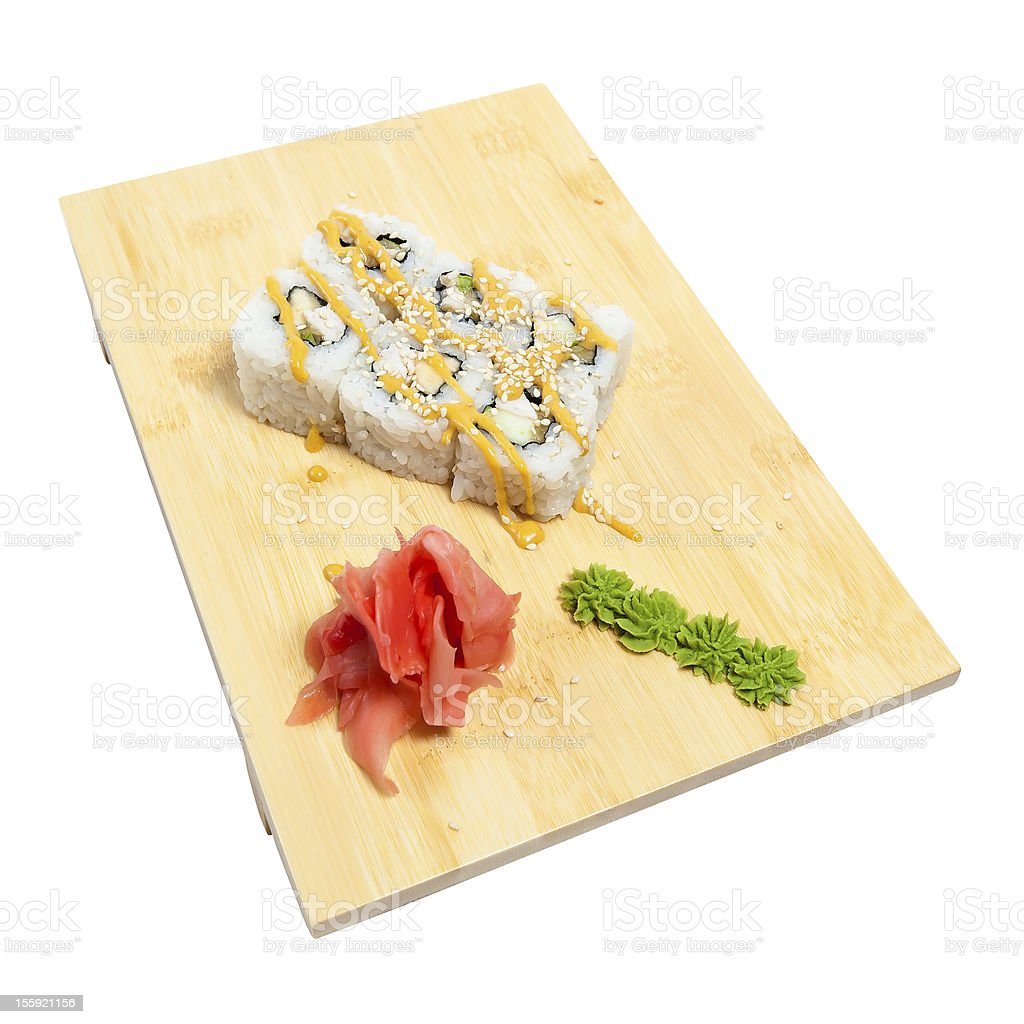 rolls with chicken royalty-free stock photo