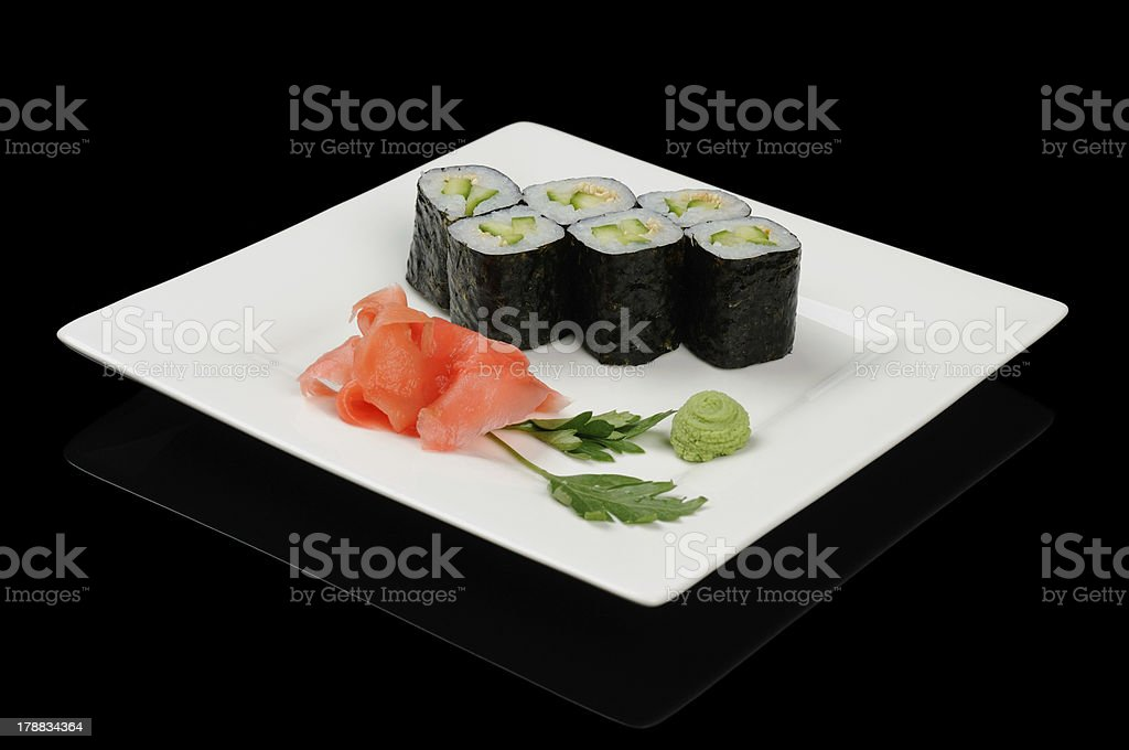 Rolls with cucumber royalty-free stock photo
