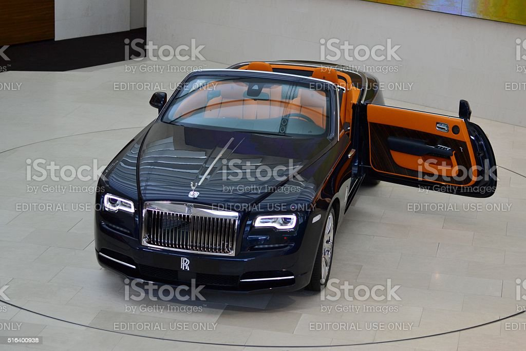 Rolls-Royce Dawn in the car showroom stock photo
