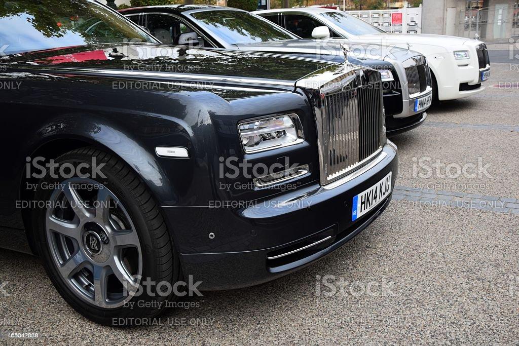 Rolls-Royce in a row stock photo