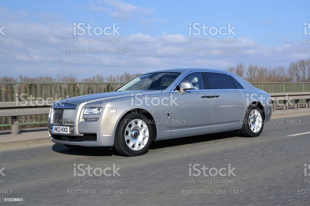 Rolls-Royce Silver Ghost Extended driving on the street stock photo