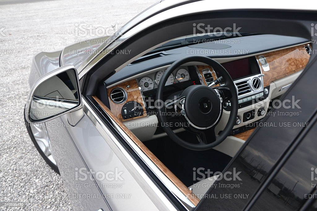 Rolls-Royce Silver Ghost - look to the interior stock photo